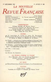 La Nouvelle Revue Française N' 108 (Décembre 1961)