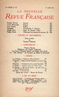 La Nouvelle Revue Française N° 261 (Juin 1935)