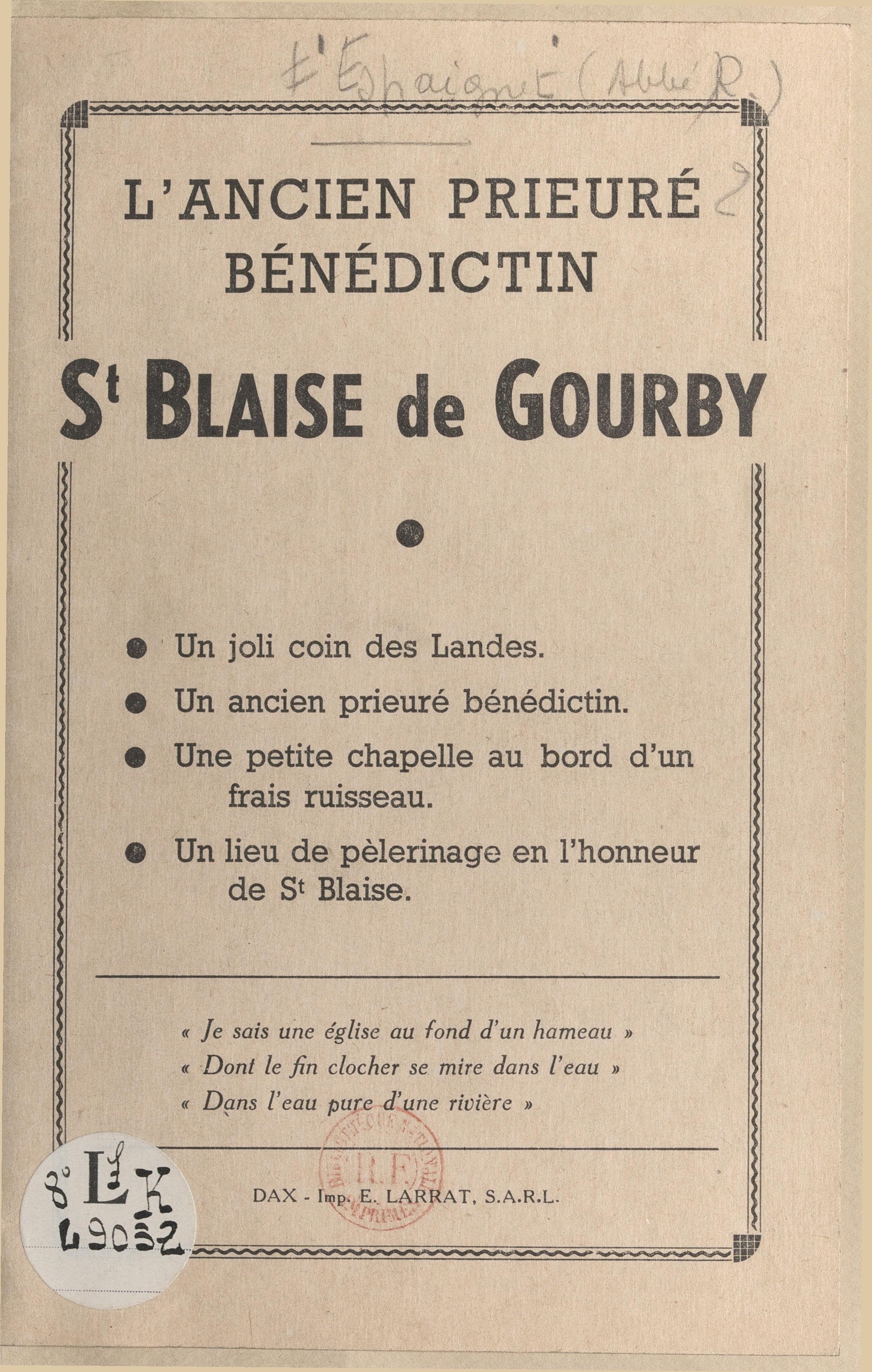 L'ancien prieuré bénédictin...