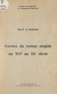 Formes du roman anglais du ...