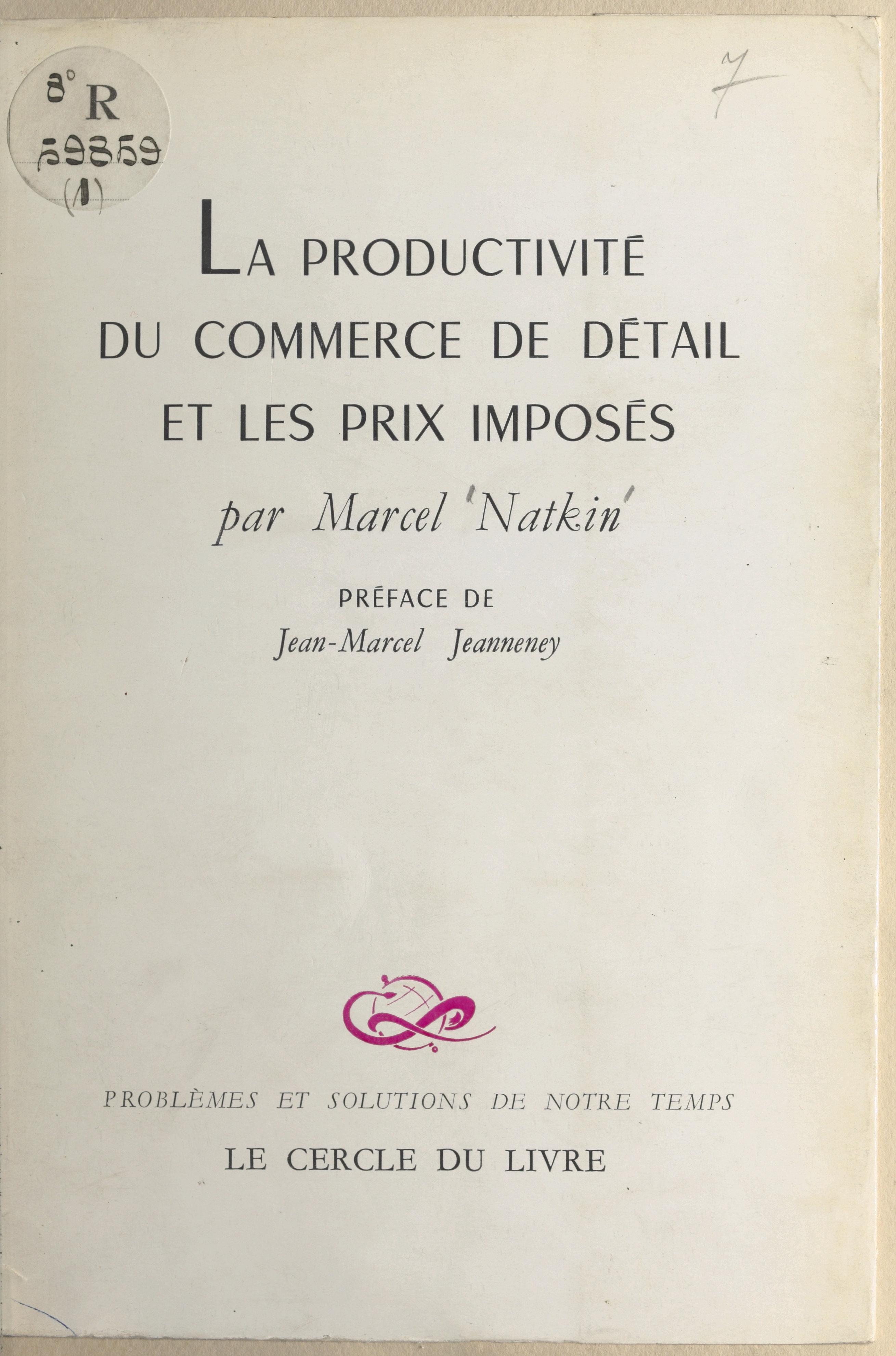 La productivité du commerce...