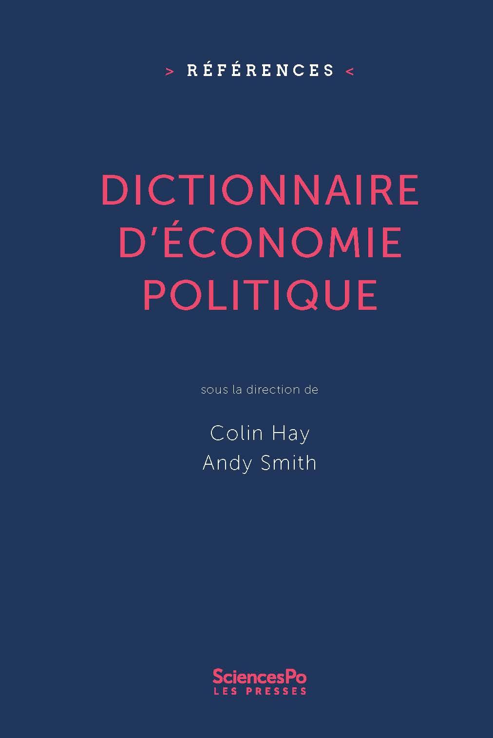 Dictionnaire d'économie pol...