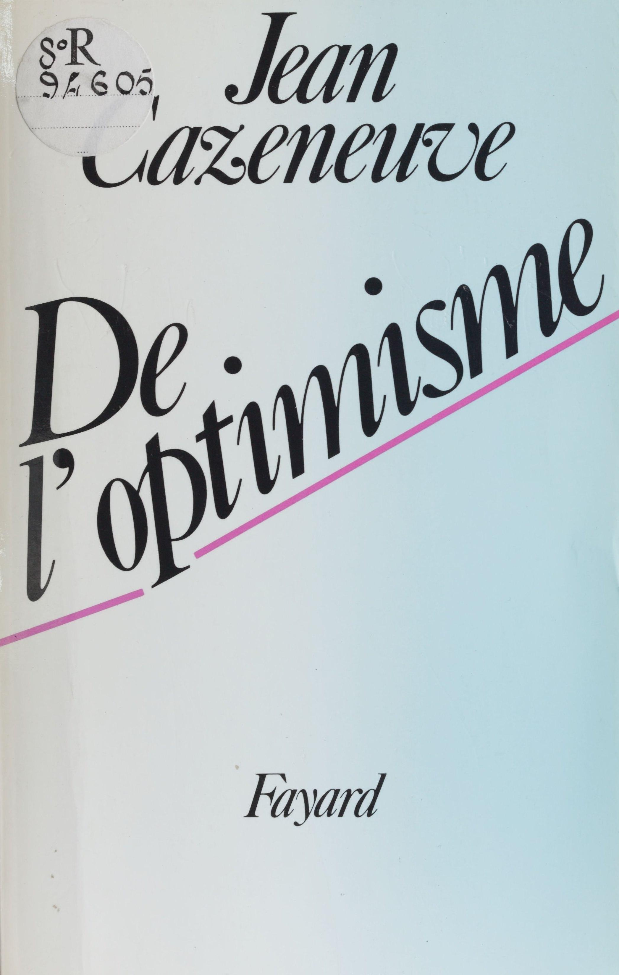 De l'optimisme