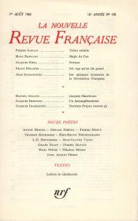 La Nouvelle Revue Française N' 188 (Aoűt 1968)