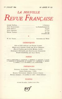 La Nouvelle Revue Française N' 163 (Juillet 1966)