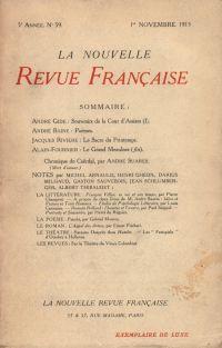 La Nouvelle Revue Française N' 59 (Novembre 1913)