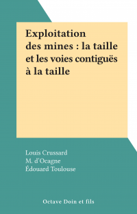 Exploitation des mines : la...