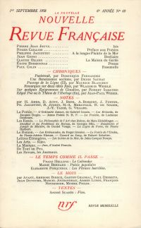 La Nouvelle Nouvelle Revue Française N' 69 (Septembre 1958)