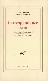 Correspondance (1960-1971)