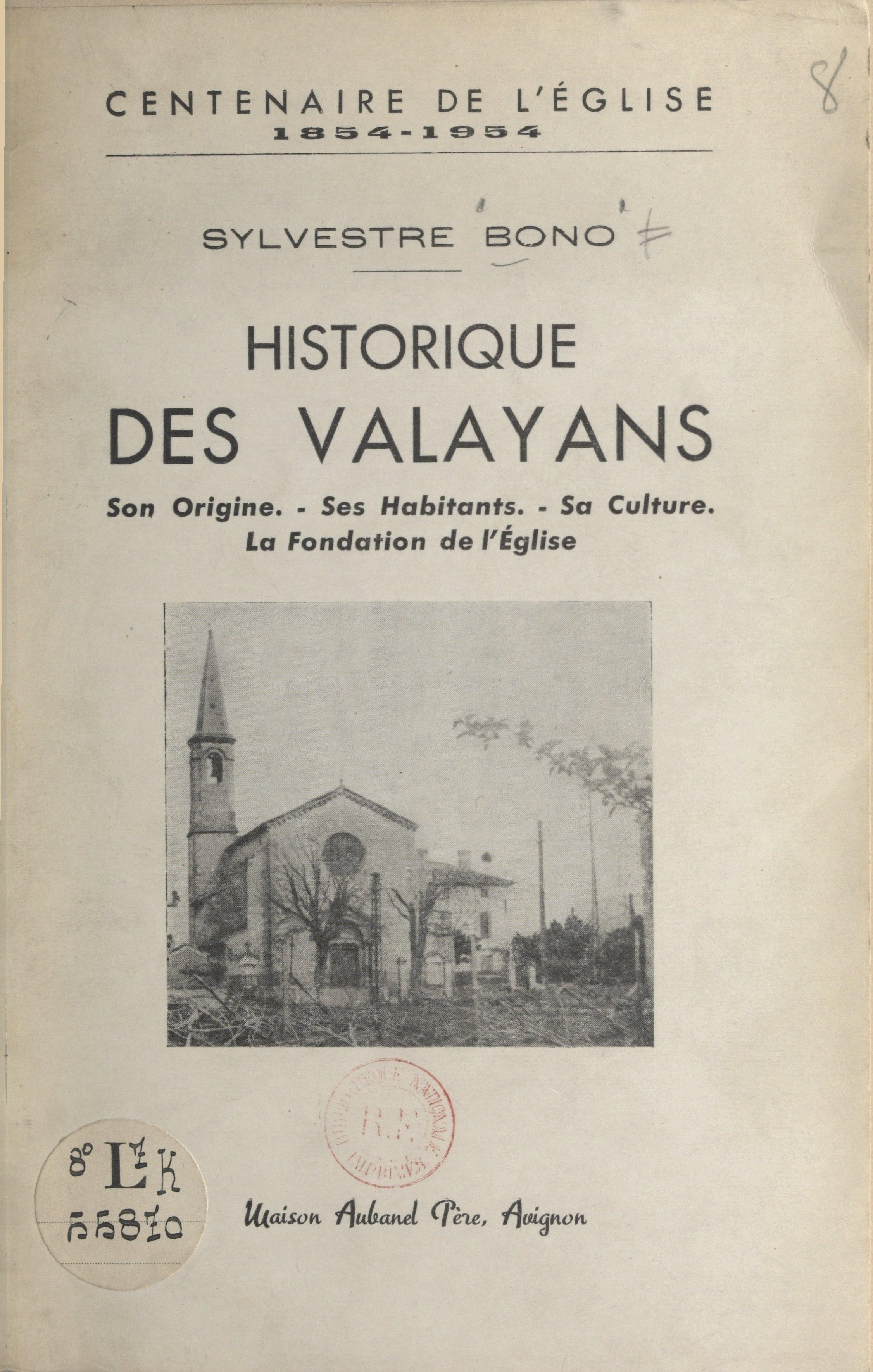 Historique des Valayans (ce...