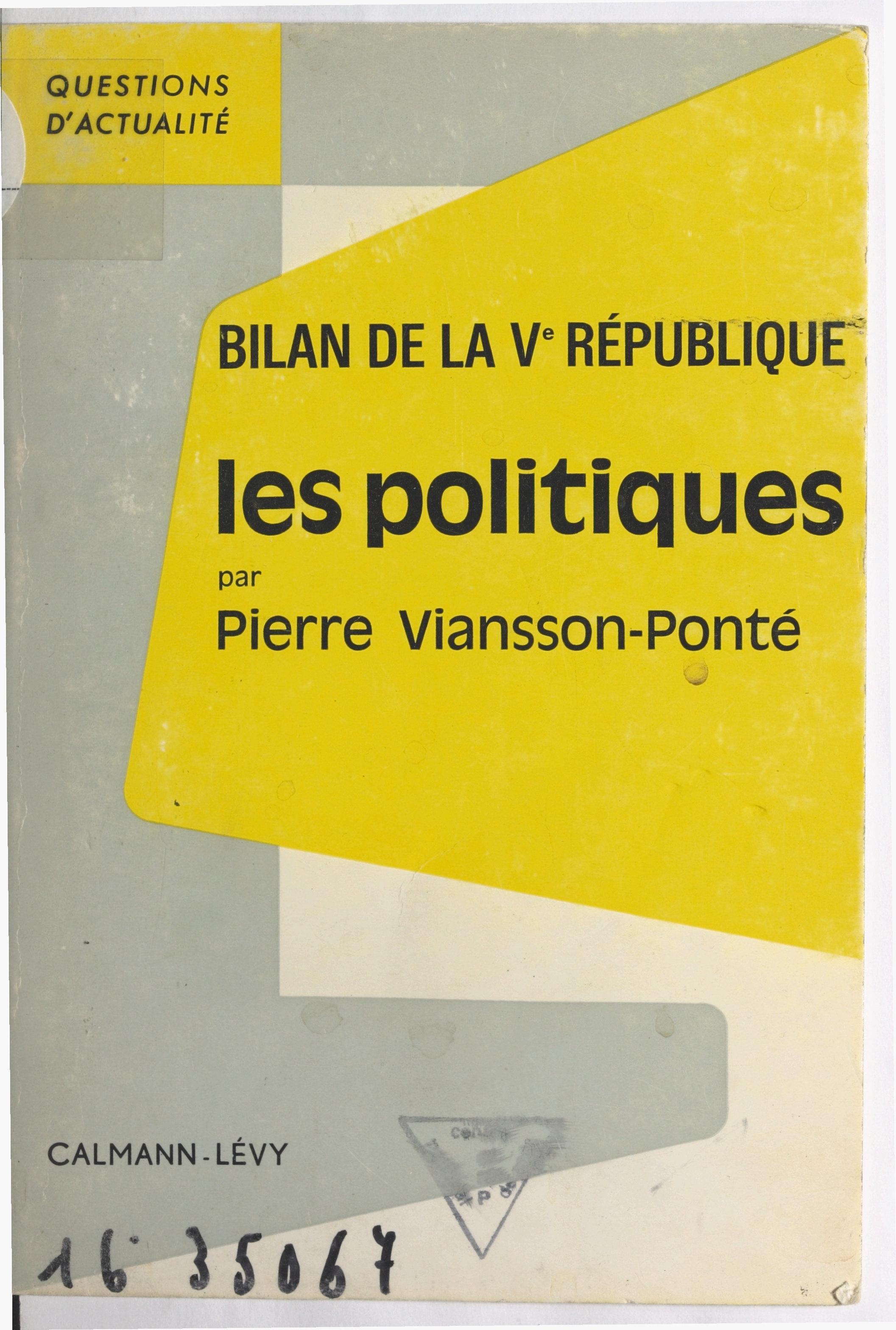 Bilan de la Ve République