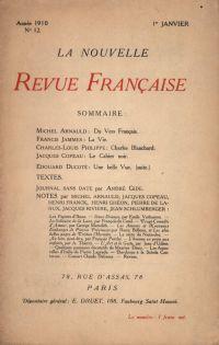 La Nouvelle Revue Française N' 12 (Janvier 1910)