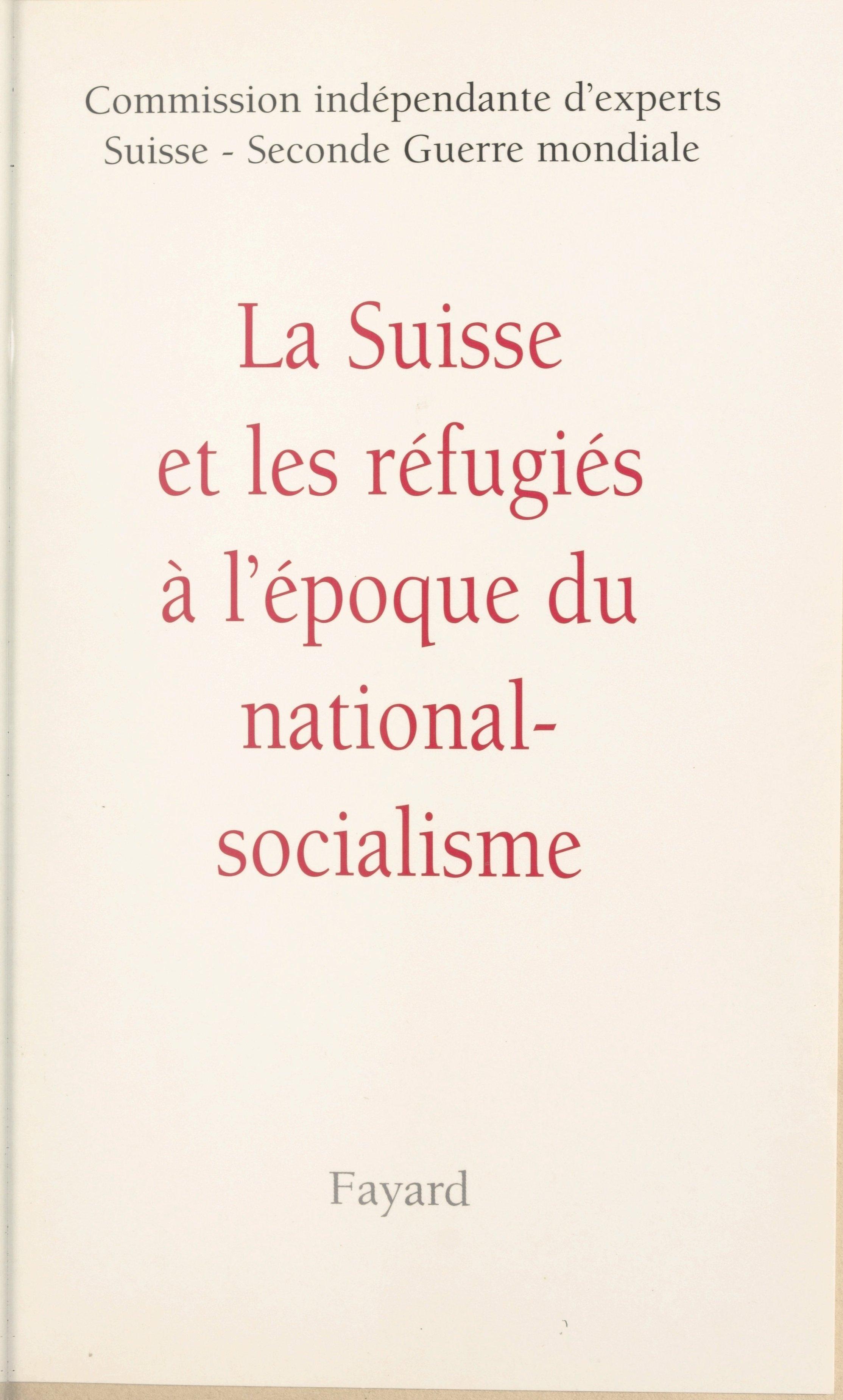 La Suisse et les réfugiés à...