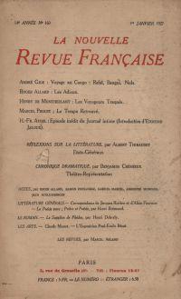 La Nouvelle Revue Française N' 160 (Janvier 1927)