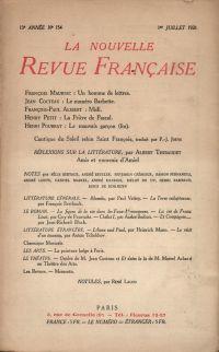 La Nouvelle Revue Française N' 154 (Juillet 1926)
