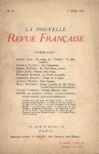 La Nouvelle Revue Française N' 18 (Juin 1910)