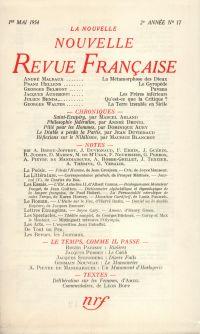 La Nouvelle Nouvelle Revue Française N' 17 (Mai 1954)