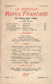 La Nouvelle Revue Française N° 247 (Avril 1934)