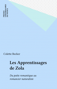 Les Apprentissages de Zola