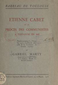 Étienne Cabet et le procès ...