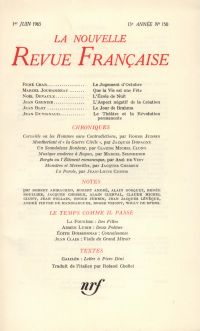 La Nouvelle Revue Française N' 150 (Juin 1965)