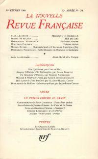 La Nouvelle Revue Française N' 134 (Février 1964)
