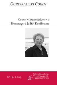 Cahiers Albert Cohen N°19