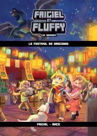 Image de couverture (Frigiel et Fluffy : Les Origines, tome 3 : Le Festival de Dragonia – Minecraft)