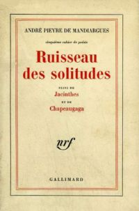 Ruisseau des solitudes / Jacinthes /Chapeaugaga