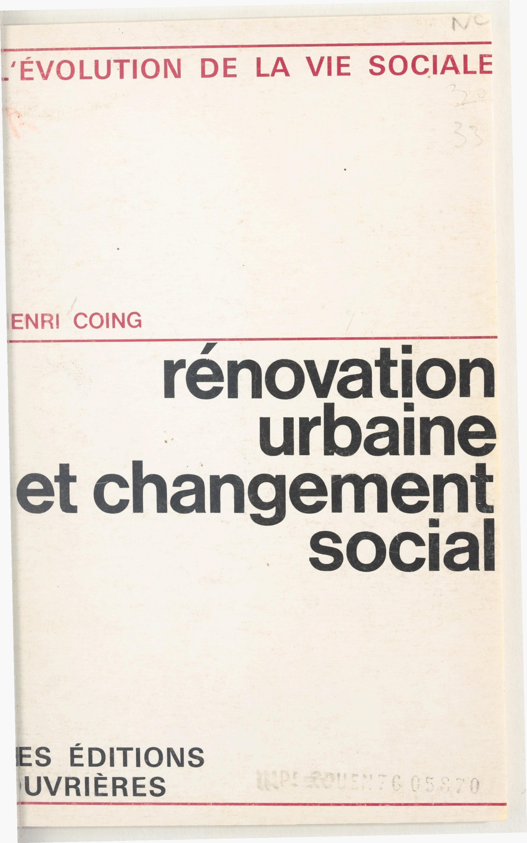 Rénovation urbaine et chang...