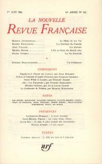 La Nouvelle Revue Française N' 162 (Juin 1966)