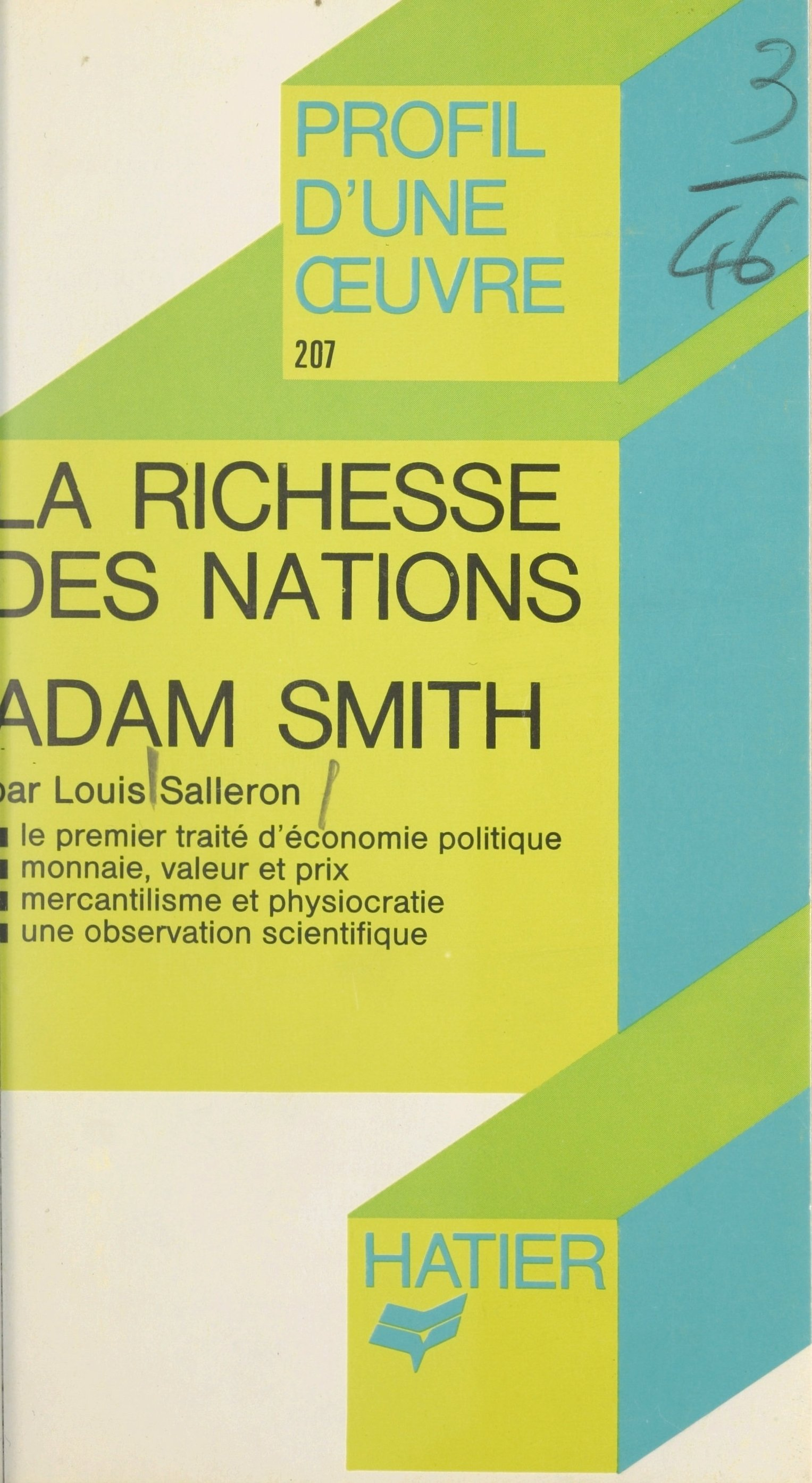 La richesse des nations, Ad...