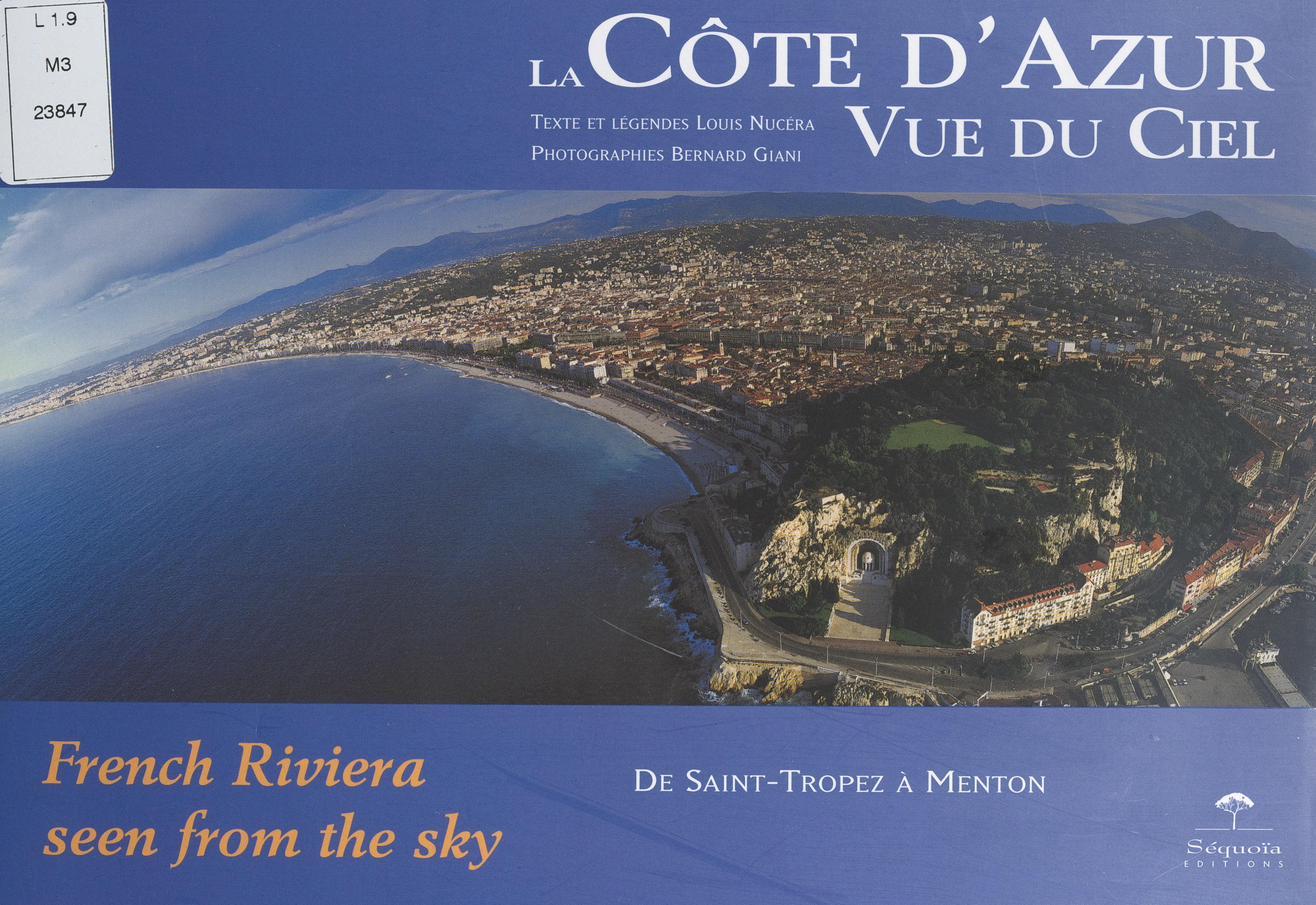 La Côte d'Azur vue du ciel