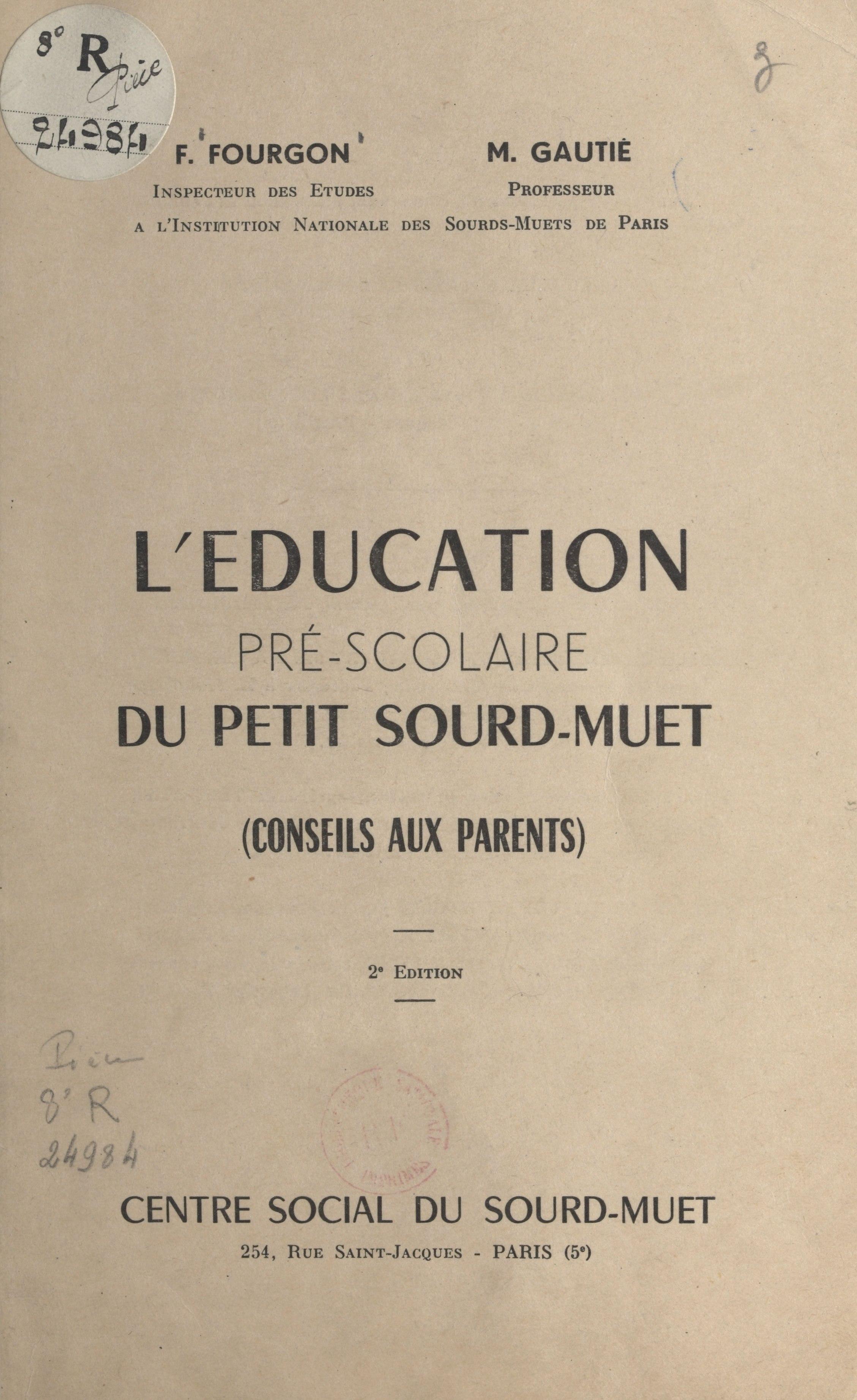 L'éducation pré-scolaire du...