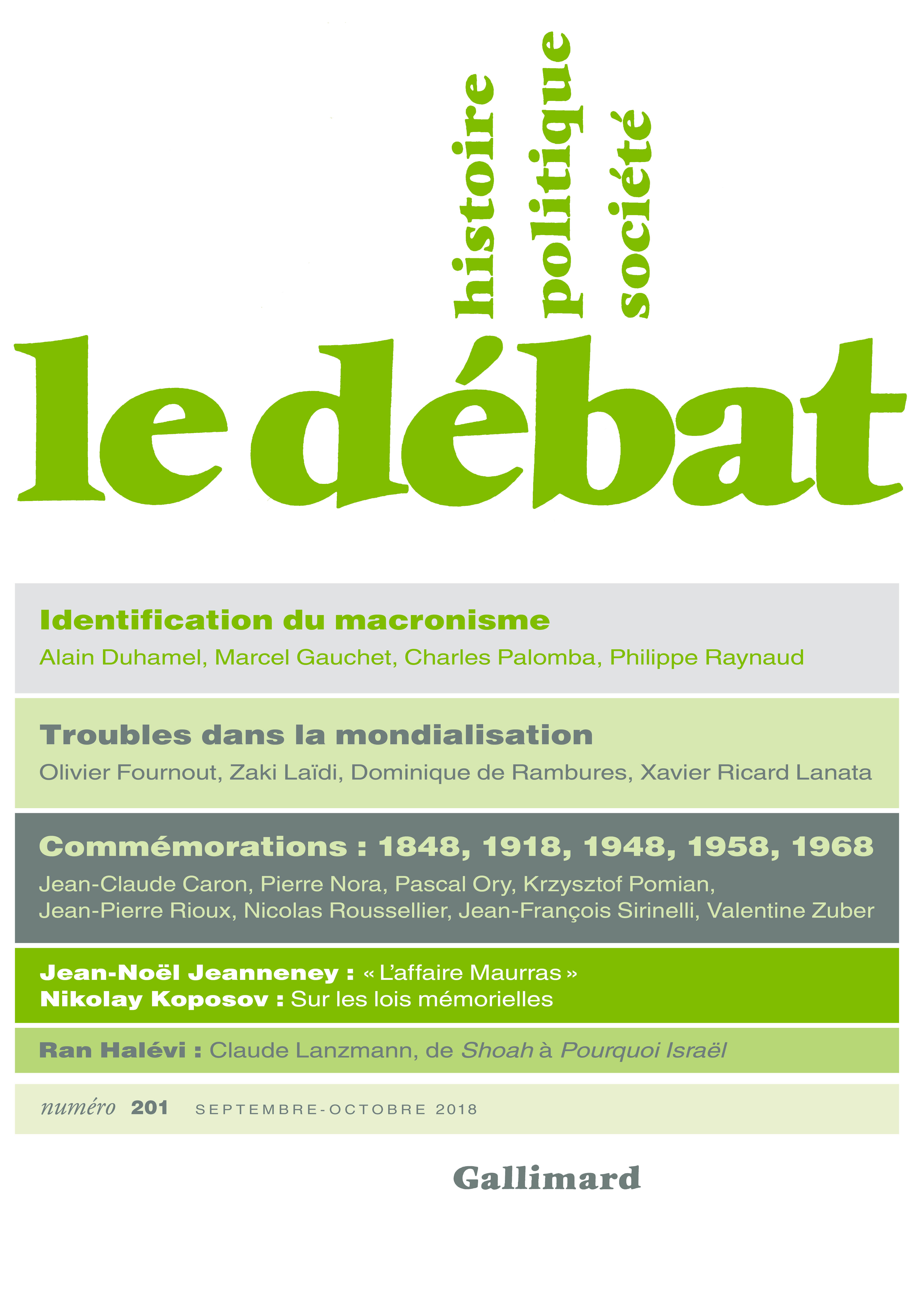 Le Débat N° 201 (Septembre ...