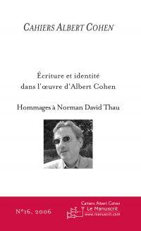 Cahiers Albert Cohen N°16