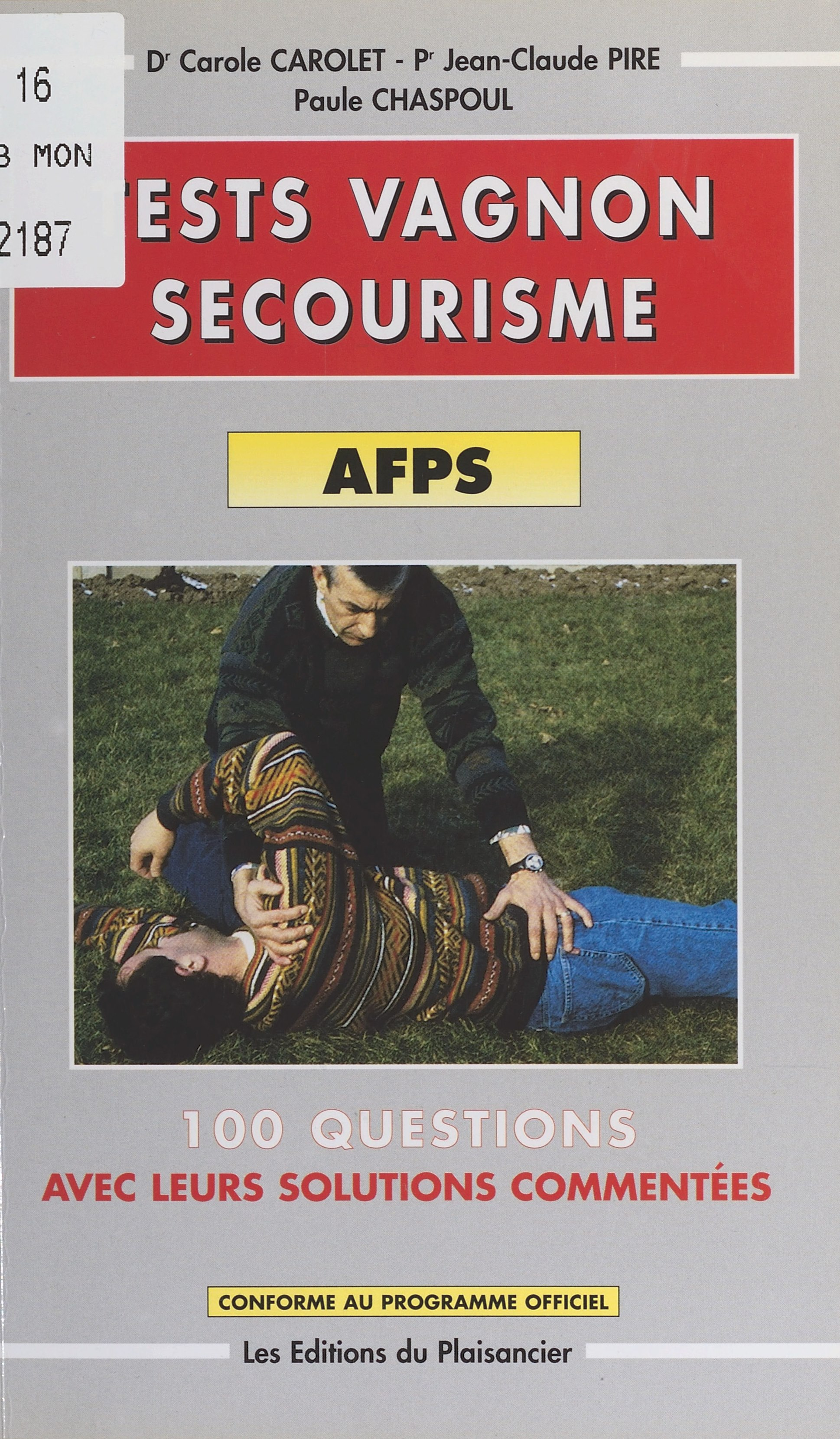 Tests Vagnon secourisme : AFPS