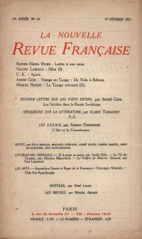 La Nouvelle Revue Française N' 161 (Février 1927)