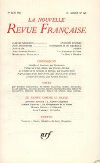 La Nouvelle Revue Française N' 149 (Mai 1965)