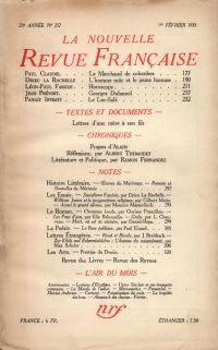 La Nouvelle Revue Française N° 257 (Février 1935)