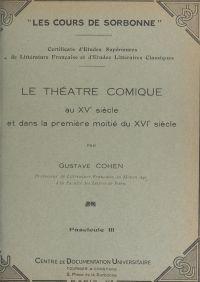 Le théâtre comique au XVe s...