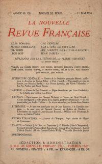 La Nouvelle Revue Française N' 128 (Mai 1924)