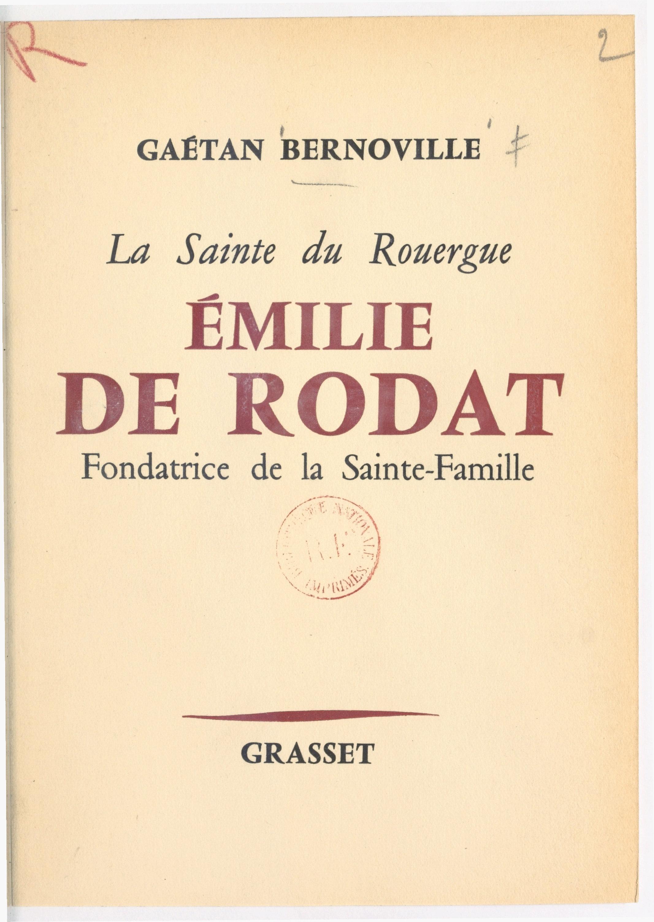 La sainte du Rouergue, Émil...