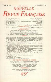 La Nouvelle Nouvelle Revue Française N' 28 (Avril 1955)