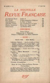 La Nouvelle Revue Française N° 224 (Mai 1932)