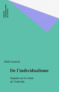 De l'individualisme