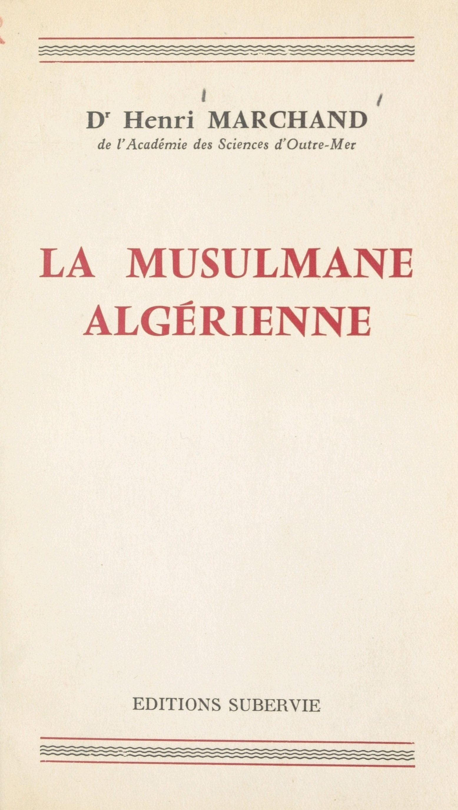 La musulmane algérienne