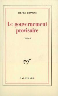 Le gouvernement provisoire