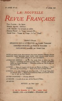 La Nouvelle Revue Française N' 163 (Avril 1927)