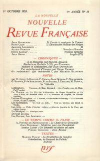 La Nouvelle Nouvelle Revue Française N' 10 (Octobre 1953)
